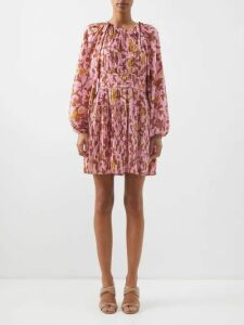 Emilia Wickstead - Margot Floral Print Crepe Blouse - Womens - Multi