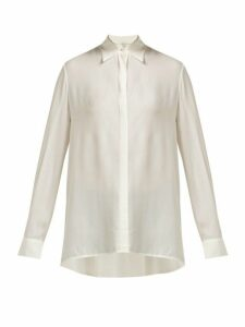 The Row - Carla Long-sleeved Chiffon Shirt - Womens - Ivory