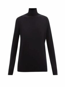 The Row - Dronia Roll Neck Jersey Sweater - Womens - Black