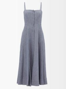 Galvan - Allegra Ruched Side Jersey Gown - Womens - Red