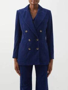 MSGM - Leopard-print Sequinned Open-back Blouse - Womens - Black Gold