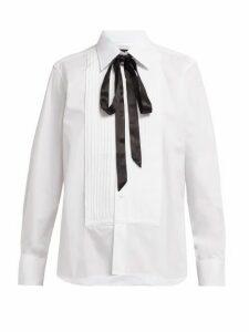 Emma Willis - Evening Pleated Cotton-poplin Shirt - Womens - White
