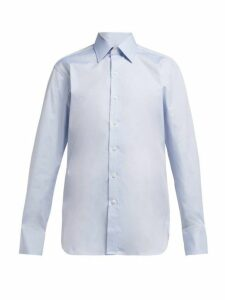 Emma Willis - Selva Cotton Shirt - Womens - Light Blue