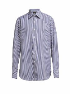 Emma Willis - Bengal-striped Cotton Shirt - Womens - Blue Multi