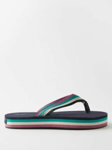 Emma Willis - Bengal Striped Cotton Shirt - Womens - Blue White