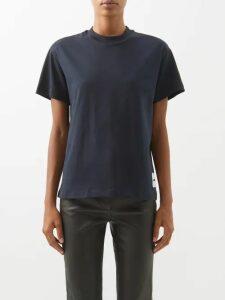 Emma Willis - Striped Cotton Shirt - Womens - Red Navy
