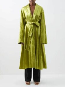 Balmain - Intarsia Striped Cardigan - Womens - Black Stripe
