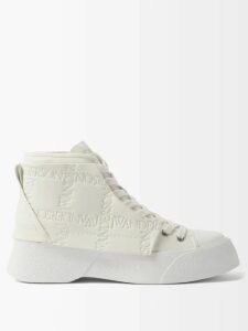 Ganni - Julliard Mohair Chunky Knit Sweater - Womens - Blue