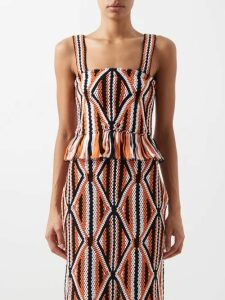 Balenciaga - Logo-intarsia Crew-neck Sweater - Womens - Black White