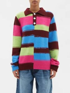Missoni - Batwing-sleeve Cashmere-blend Cardigan - Womens - Pink Multi