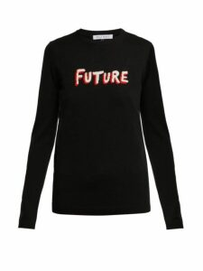 Bella Freud - Future Instarsia Knit Wool Sweater - Womens - Black Multi