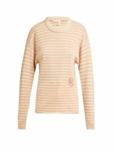Chloé - Intarsia Striped Cashmere Sweater - Womens - Pink Stripe