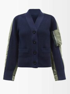 Mary Katrantzou - Lizzie Intarsia Stripe Cotton Sweater - Womens - Pink Multi