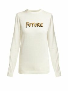Bella Freud - Future Instarsia Wool Sweater - Womens - Ivory Multi