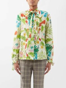 The Elder Statesman - Round Neck Cashmere Sweater - Womens - Yellow