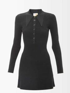 Joostricot - Roll Neck Cotton Blend Sweater - Womens - Navy