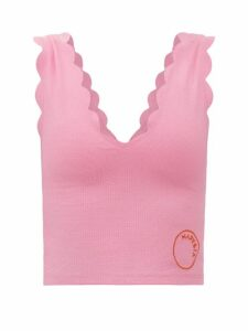 Bottega Veneta - Intrecciato Grid-knit Cashmere Roll-neck Sweater - Womens - Red