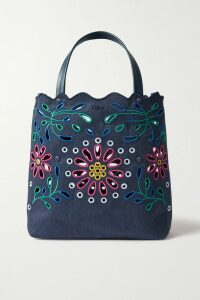 Stella McCartney - Silk Tie-detailed Crepe De Chine Blouse - Navy
