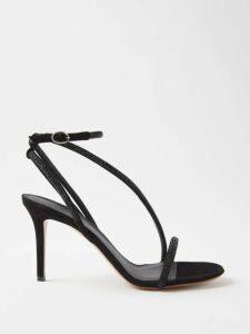 Chloé - Pinstripe High-neck Cotton-poplin Shirtdress - Womens - Blue