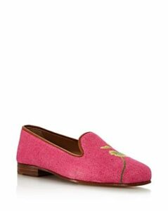 Stubbs & Wootton Women's Forget Me Not Floral Loafers