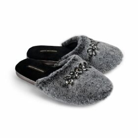 PAISIE - Fluffy Wrap Jumper In Black