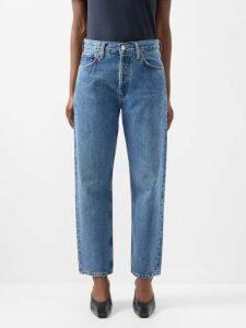 Acne Studios - Taline Long Sleeved Linen T Shirt - Womens - Dark Grey