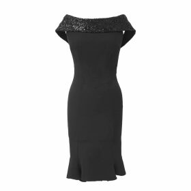 Cove - Carmen Blue Cashmere Jumper with Neon Stripes
