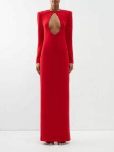 By Walid - Daisy Floral Print Cotton Canvas Midi Skirt - Womens - Blue Print