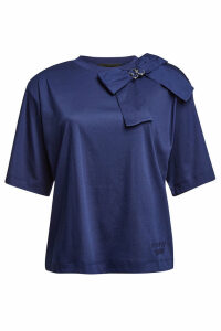 Boutique Moschino Cotton Top with Embellished Bow