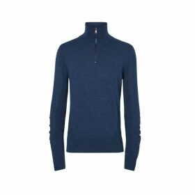 Burberry Merino Wool Half-zip Sweater