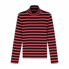 Moncler Grenoble Ciclista Striped Wool-blend Jumper