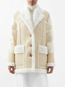 Roland Mouret - Bates Ruffled Crepe Dress - Womens - Navy Multi