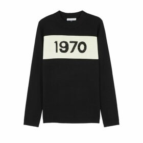 BELLA FREUD 1970 Metallic-knit Wool-blend Jumper