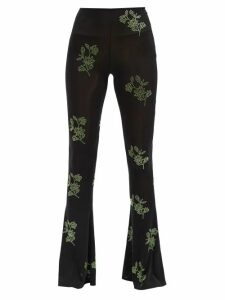 Cefinn - Tie Waist Jacquard Dress - Womens - Red