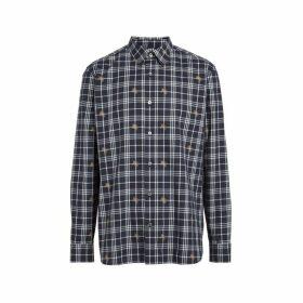 Burberry Equestrian Knight Check Cotton Shirt