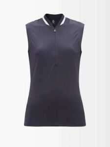 Prada - High-rise Geometric-brocade Trousers - Womens - Green Multi