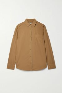 Miu Miu - Cropped Metallic Striped Knitted Sweater - Red