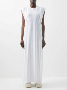 Ganni - Callahan V Neck Sweater - Womens - Light Pink