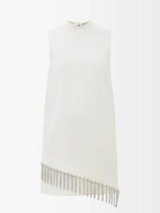 Ganni - Callahan V-neck Mohair-blend Sweater - Womens - Light Grey