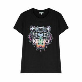Kenzo Black Tiger-print Cotton T-shirt