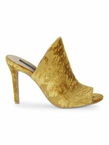 Open Toe Velvet Stiletto Sandals