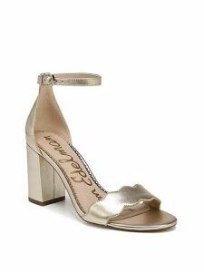 Odila Scalloped Metallic Leather Sandals