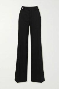 Roland Mouret - Chaney Checked Cotton-blend Bouclé Midi Dress - Burgundy