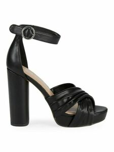 Flora Leather Ankle-Strap Sandals