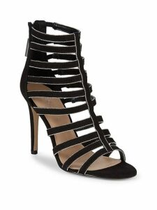 Jacqueline Micro Suede Caged Sandals