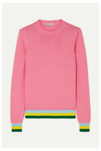 Mary Katrantzou - Lizzie Striped Cotton Sweater - Pink