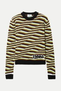 Prada - Striped Cashmere Sweater - Brown