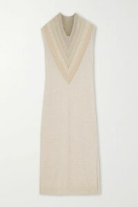 Paco Rabanne - Zip-detailed Ribbed Cotton-blend Sweater - Black