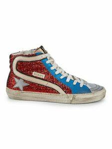 Slide Metallic High-Top Sneakers