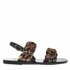 Ancient Greek Sandals Spianada Multicolor Woven Fabrci Sandals
